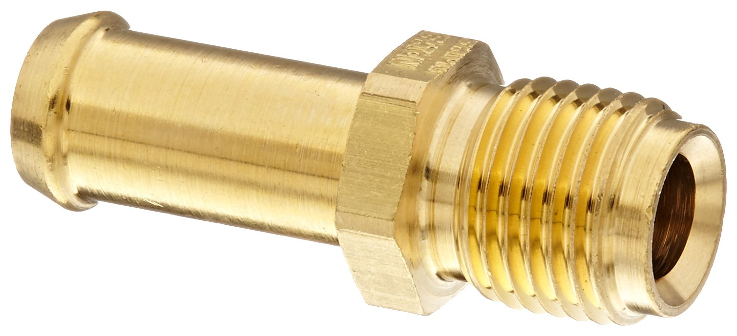 Eaton Weatherhead 05706B-1568 Inverted Male Connector Fitting, CA360 Brass, 3/8'' Hose ID, 5/16'' Tube Size (Pack of 5)