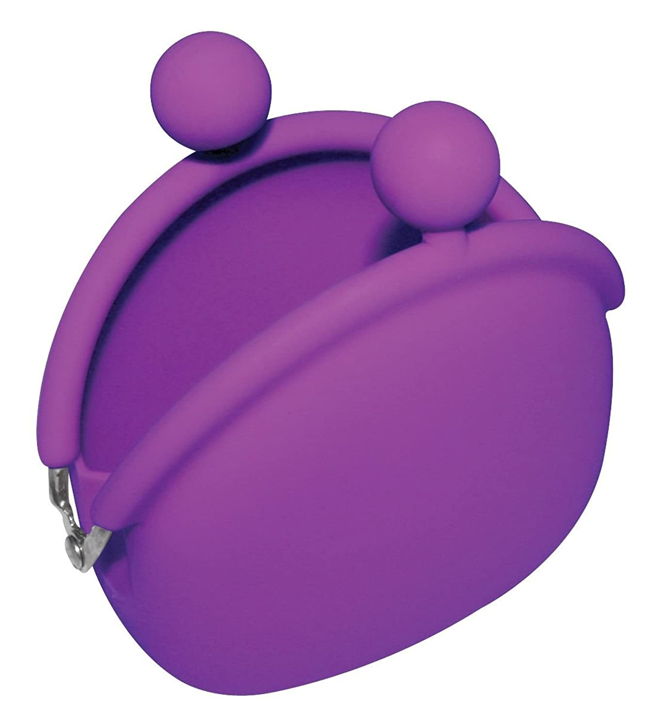 Silicone Purse 8 Different Colors to Choose Coin Wallet with metal buckle (Purple)
