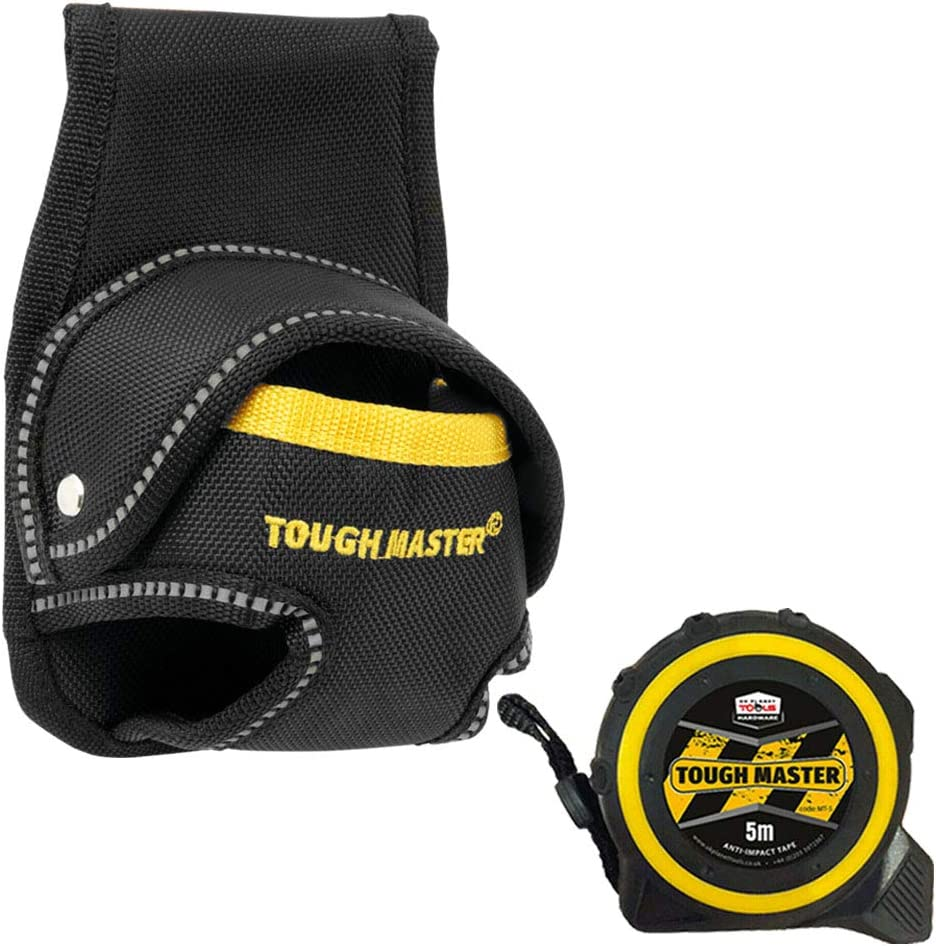 Tough Master TM-71831 3-10M Measuring Tape Holder Pouch with Free Pocket Tape Measures 8M//26ft