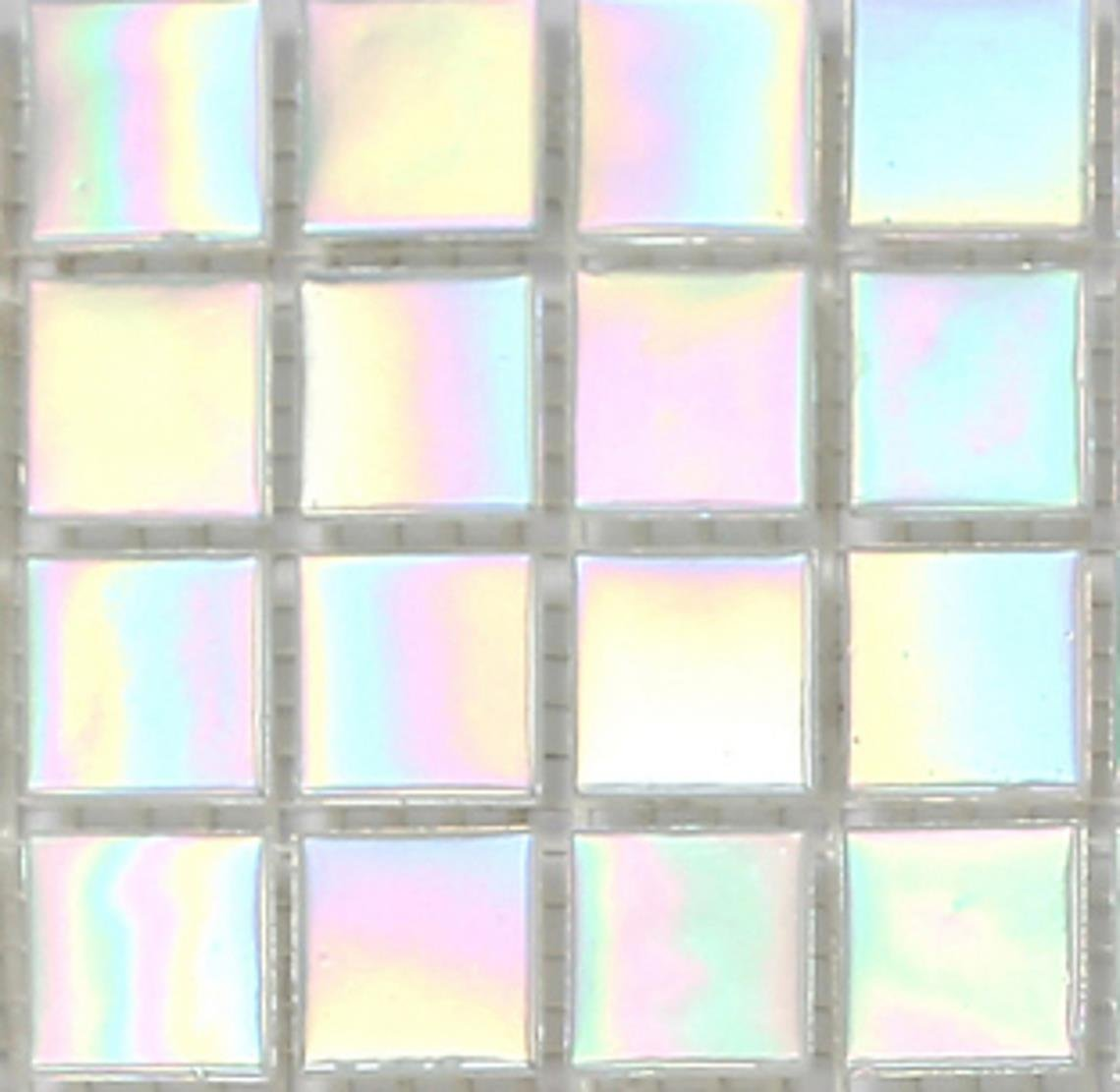 10x10cm Sample Shades Of Iridescent White Vitreous Glass Mosaic Tiles Sheet (MT0131) Grand Taps