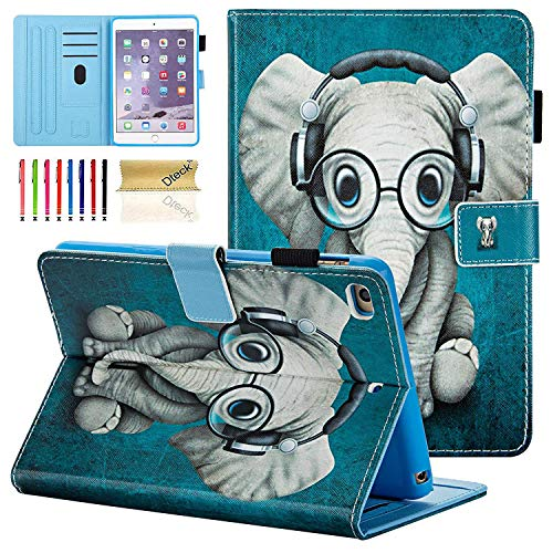 iPad Mini 1 2 3 4 Case, Dteck Slim Fit [Photo Frame & Stylus Slot] Multi-Angle View Stand PU Leather Case with Auto Wake/Sleep Feature Smart Cover for Apple iPad Mini 1/2/3/4, Doctor Elephant (Dr Who Ipad Mini Case)