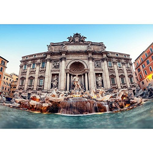 Pitaara Box Trevi Fountain Rome, Italy D2 Canvas Painting MDF Frame 17.5 X 12Inch ()