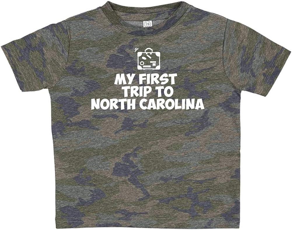 Toddler//Kids Short Sleeve T-Shirt My First Trip to North Carolina