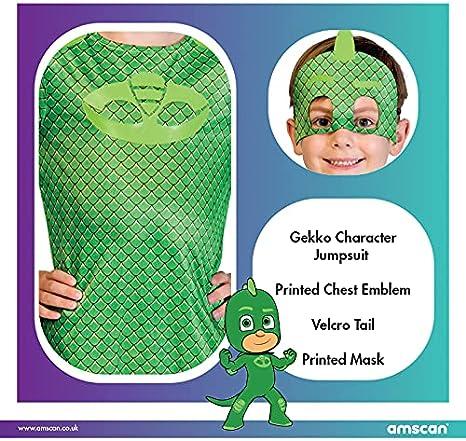 amscan – PJMASQUES GLUGLU-Gekko – Disfraz infantil – Verde – 2-3 años 9902955