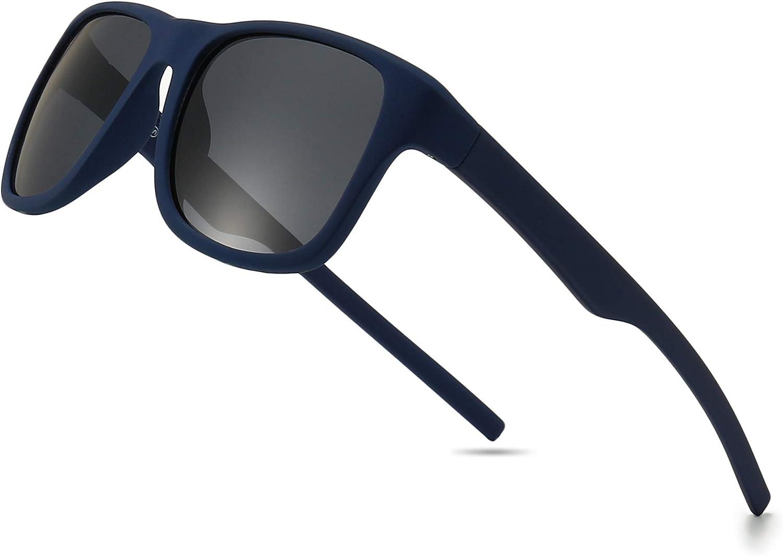 SUNGAIT Gafas de sol polarizadas Hombre Retro 100% protección UVA conducción