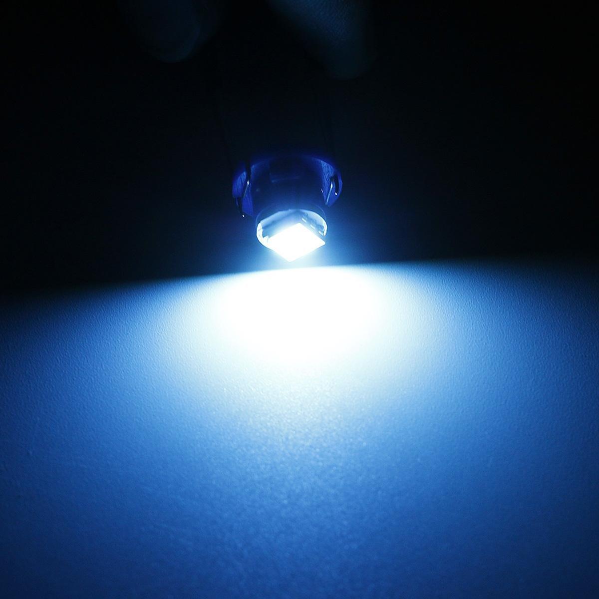 partsam 20 x T3 Neo cuña Hielo Azul LED Coche a/c Control de temperatura interruptor de radio luces bombilla: Amazon.es: Coche y moto