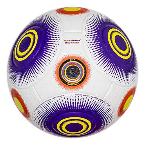 Premier Youth Panel - Bend-It FIFA Soccer Ball Regulation Size 5, Knuckle-It Pro Purple