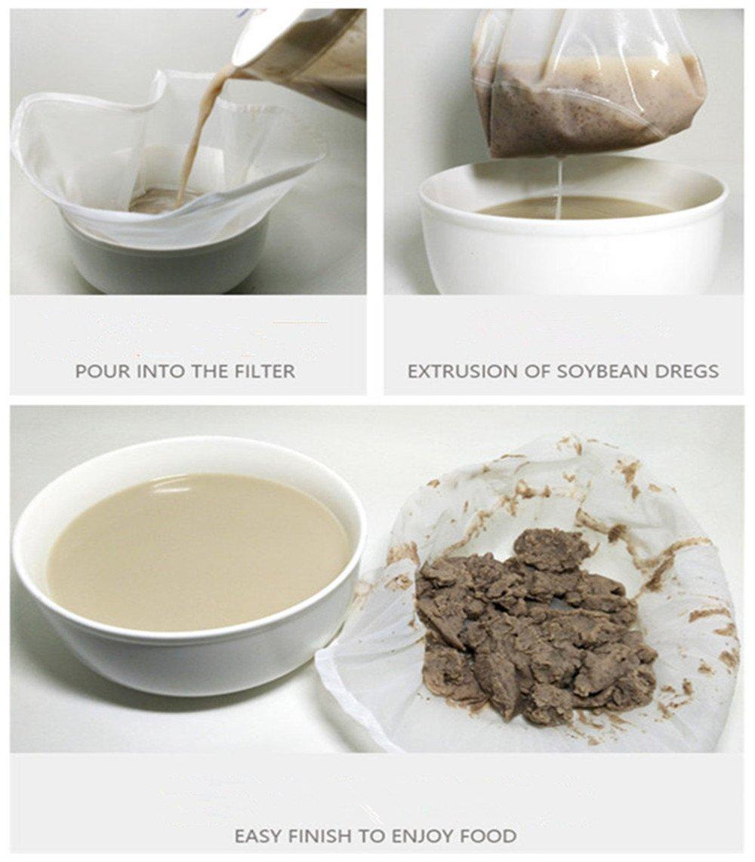 OldPAPA 75μm Nut milk bag, bolsa para hacer leches vegetales,bolsa para hacer queso, zumos (Paquete de 2) vegetales100% Nylon Perfecto como colador: ...