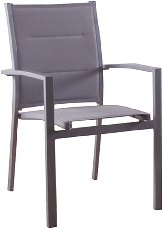 Hespéride – Juego de 2 sillones de jardín Sillón Azua, Plata: Amazon.es: Hogar