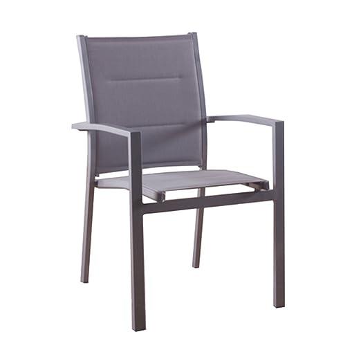 Hespéride - Juego de 2 sillones de jardín Sillón Azua, Plata ...