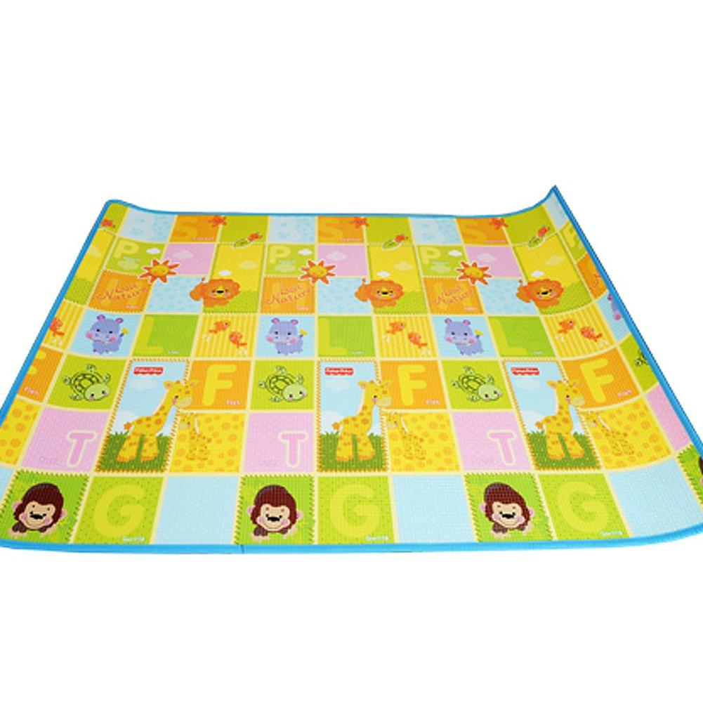 赤ちゃんマットをクロール,両面 厚く 安全な子供のパズル プレーマット アクティビティ マット カーペットを再生します。 150 * 200 * 1 cm-A  A B07D7WFG59
