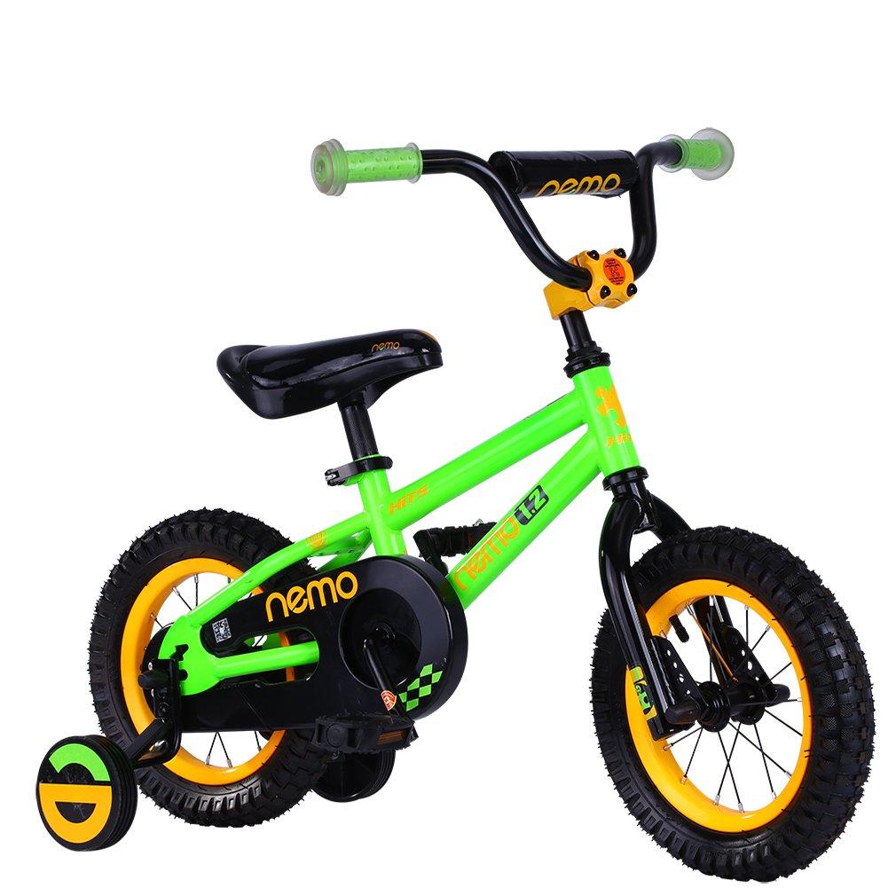 HITS(ヒッツ) Nemo 子供用 自転車 児童用 バイク 12インチ 小さなお子様も運転しやすいリバースブレーキモデル 男の子にも女の子にもぴったり 2歳 3歳 4歳 B06XQ5Y4PY グリーン グリーン
