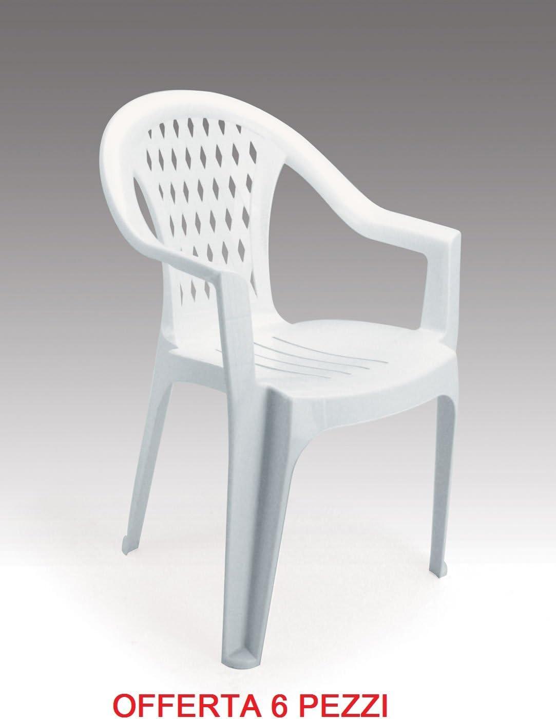 Sedie In Plastica Da Giardino Prezzi.Gbshop Sedia Poltrona Da Giardino Economica In Plastica Resina