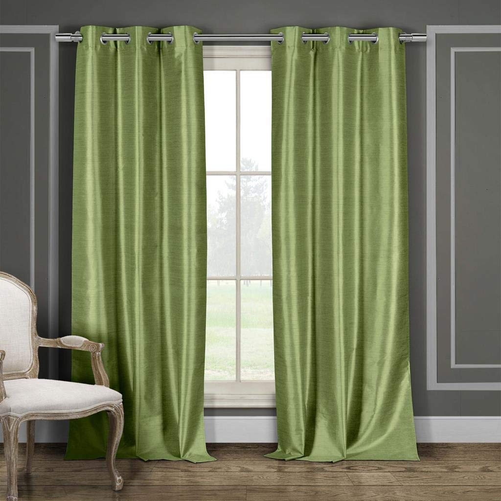 2 Piece 36X84 Duck River Textiles DAENERYS 4618D=12 Duck River Textile Daenerys Heavy Faux Silk Insulated Blackout Room Darkening Curtain Set of 2 Panels 36X84 Wine