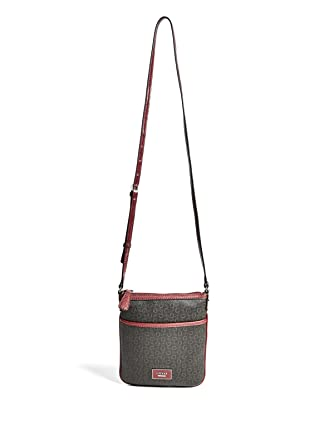 Image Unavailable. Image not available for. Color  GUESS Factory Women s  Burnley Faux-Leather Logo Crossbody Bag 074d446147bb2