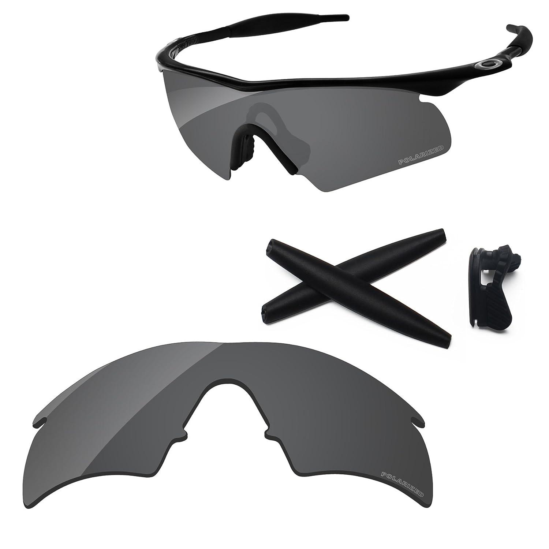 df326e9ddc Amazon.com  PapaViva Replacement Lenses   Rubber Kits for Oakley M Frame  Hybrid Black Grey - Polarized  Clothing
