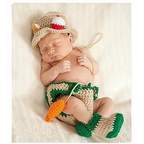 Fashion recién nacido niño niña bebé disfraz de punto fotografía ...