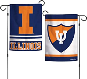 "WinCraft Illinois University NCAA Garden Flag Licensed Double Sided 12.5"" x 18"""