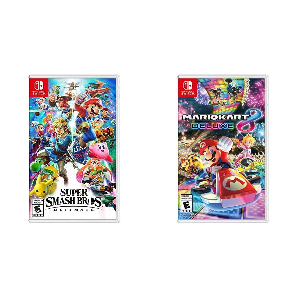 Amazon Com Super Smash Bros Ultimate Bundle With Mario Kart 8