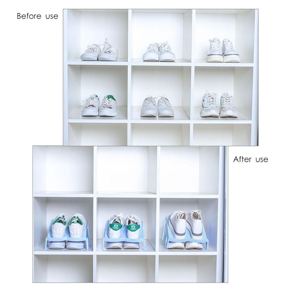 /fancylande Estanter/ía de almacenamiento zapatos estante de almacenamiento zapatos zapatos Range 4pcs guardarropa creativa capa soporte de almacenaje de zapato de/