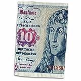 3dRose Carsten Reisinger Photography - Former German 10 ten deutsche mark german bill bank note cash currency - 15x22 Hand Towel (twl_155079_1)
