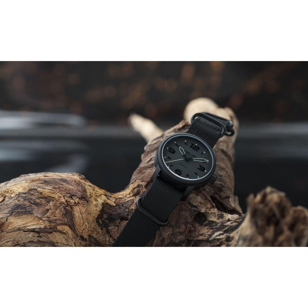 Lum-Tec B39 Phantom Watch | Leather Watch Band - Black by Lum-Tec (Image #3)