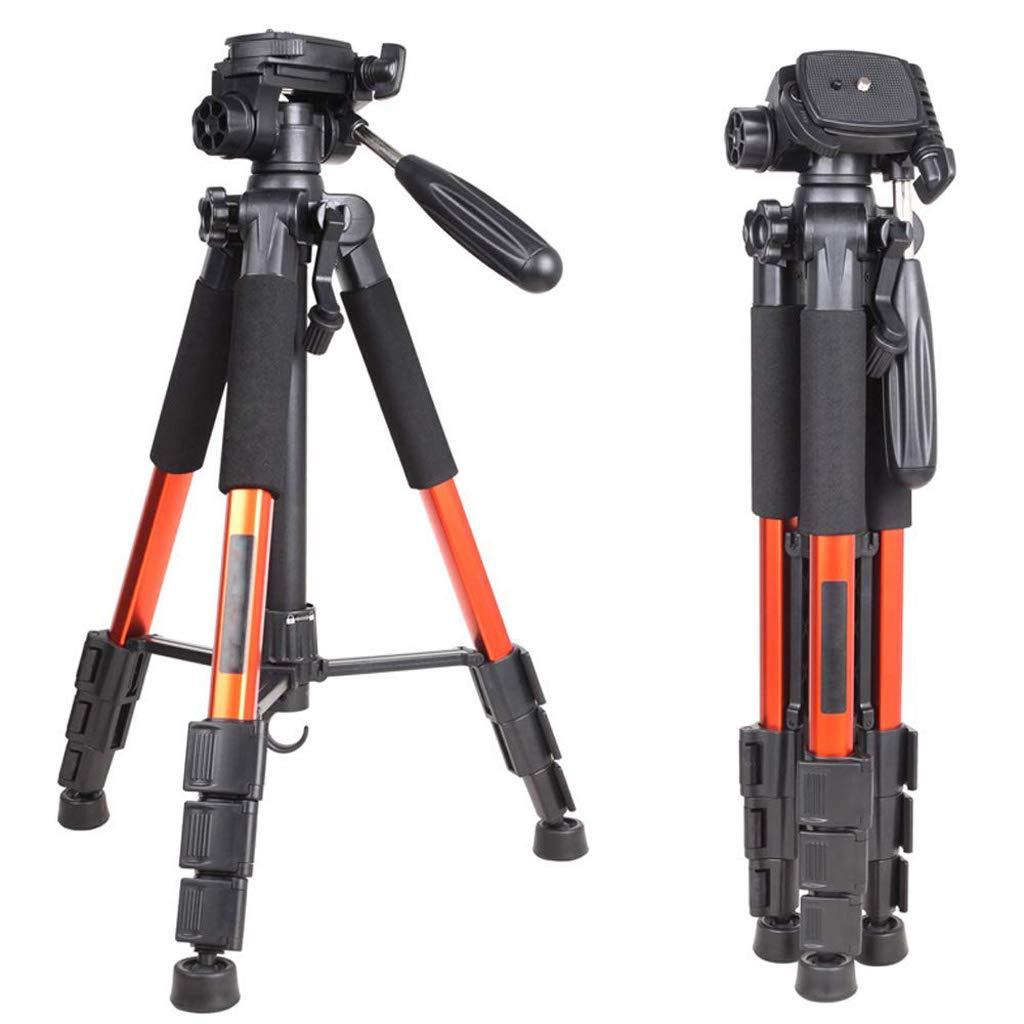 XHHWZB カメラ三脚 Concept 56インチ コンパクトライトアルミニウム三脚 クイックリリースプレート ボールヘッド キャリーバッグ付き デジタル一眼レフカメラ用, Tripod, オレンジ, jiaguwenhuwai Tripod オレンジ B07JWHS2XW