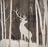 Deer in Woods Dark Distressed 17.5 x 17 Wood Pallet Wall Plaque Sign