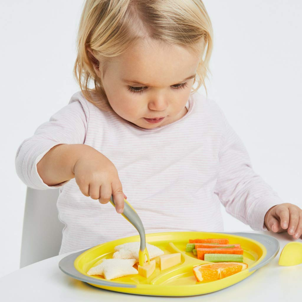 b.box Toddler Cutlery Set Uniquely Shaped Fork /& Spoon to Encourage Independent Eating Passion Splash
