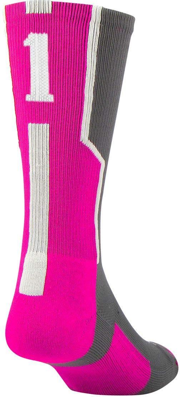 Single Sock Twin City Player ID Sock Graphite//Hot Pink//White Medium Twin-City