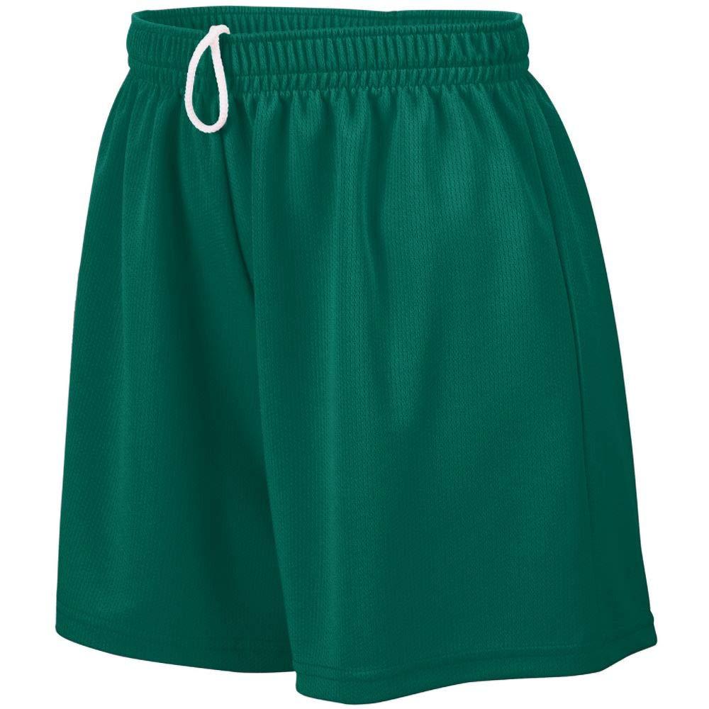Augusta Sportswear Teen-Girls Wicking Mesh Short, Dark Green, Small by Augusta Sportswear