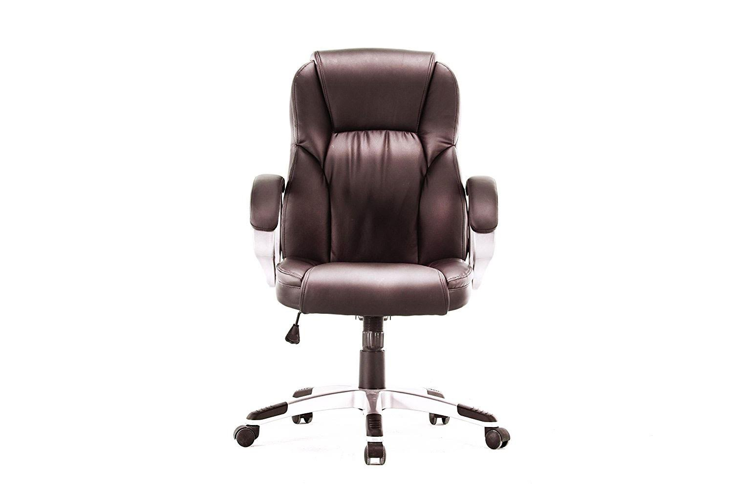 Angel High-Back Manager Executive Deluxe Leather Chair with Arms, Swivel & Tilt, Ergonomic Design, Great for Home Office Task Computer PC Chair (Black) Angel Canada