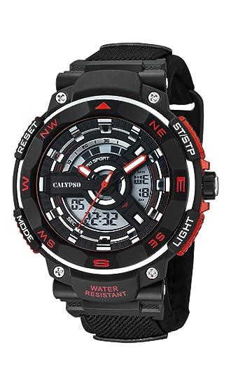 Calypso Watches Reloj Digital para Hombre de Cuarzo con Correa en Caucho K5673_6: Amazon.es: Relojes