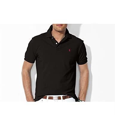 Polo Ralph Lauren KSM50 C5601 B0OOJ Polo Hombre Negro L: Amazon.es ...