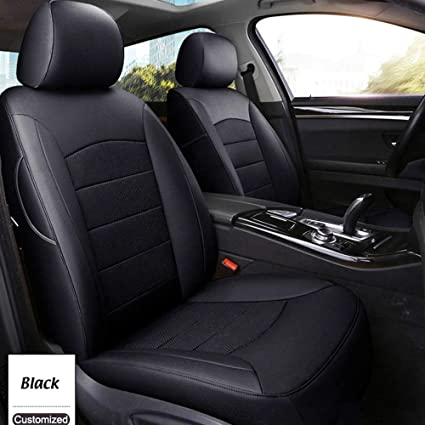 AutoDecorun Full Set Perforated Genuine Leather Leatherette Custom Fit Seat Cushion For KIA Sorento