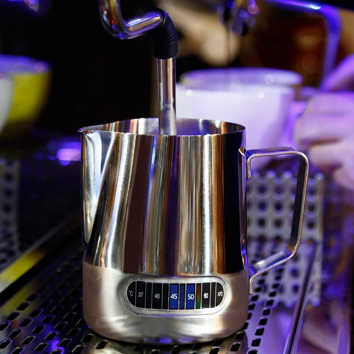 ZUZEN La Taza de Acero Inoxidable con Sensor de Temperatura Inteligente y la Boca de la Punta de la Pantalla se Pueden Utilizar como Taza de t/é de caf/é Plateada