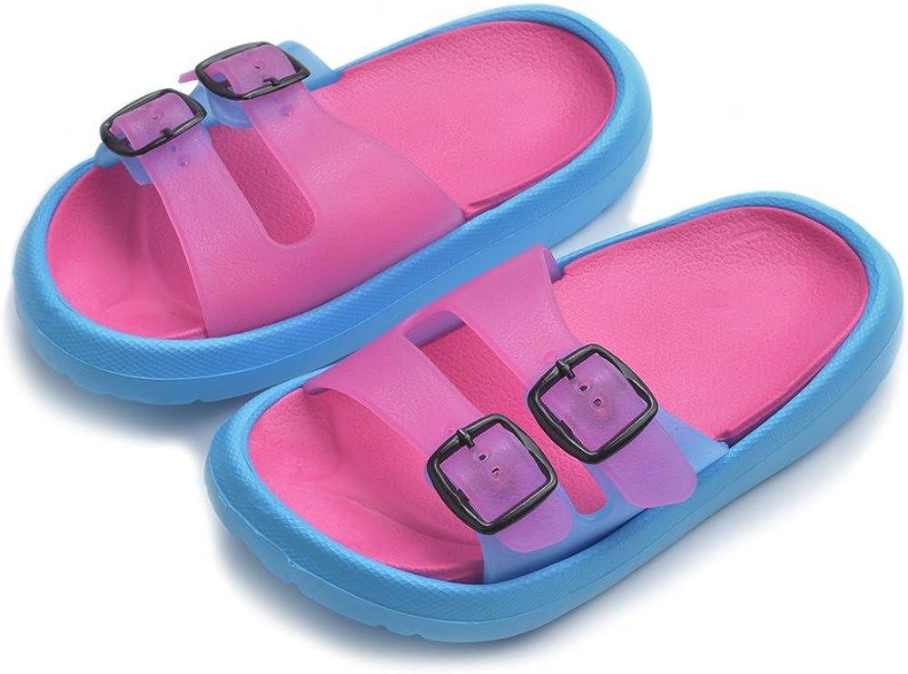 Kids Summer Slipper Football in The Fire and Water House Slippers Shower Slide Anti-Slip Beach Pool Bath Sandals for Boys Girls