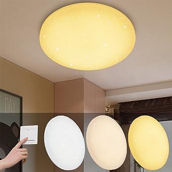 VINGO® 16W LED Deckenleuchte Farbwechsel 3in1 Starlight Effekt Schön ...
