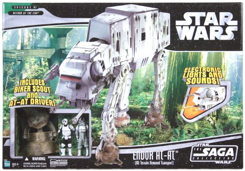 [Star Wars Saga Deluxe Vehicle Endor AT-AT Walker w/ Biker Scout and AT-AT Pilot] (Star Wars At At Walker)