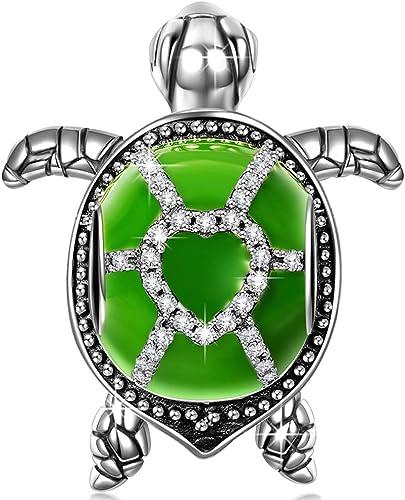 Glitzer Charm Schildkröte Zirkonia Silber 925