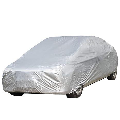 Argento S:406*165*120cm logei/® Garage Telo copriauto auto copertura comprende speciale copertura impermeabile Taffett/à Impermeabile Anti UV