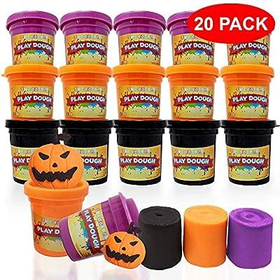 The Twiddlers 20 Latas de Plastilina en Colores Variados - Juguete Ideal para Halloween y Sorpresas, Dulce o Travesura, Regalos de Fiesta, Play-Doh y Piñatas: Juguetes y juegos