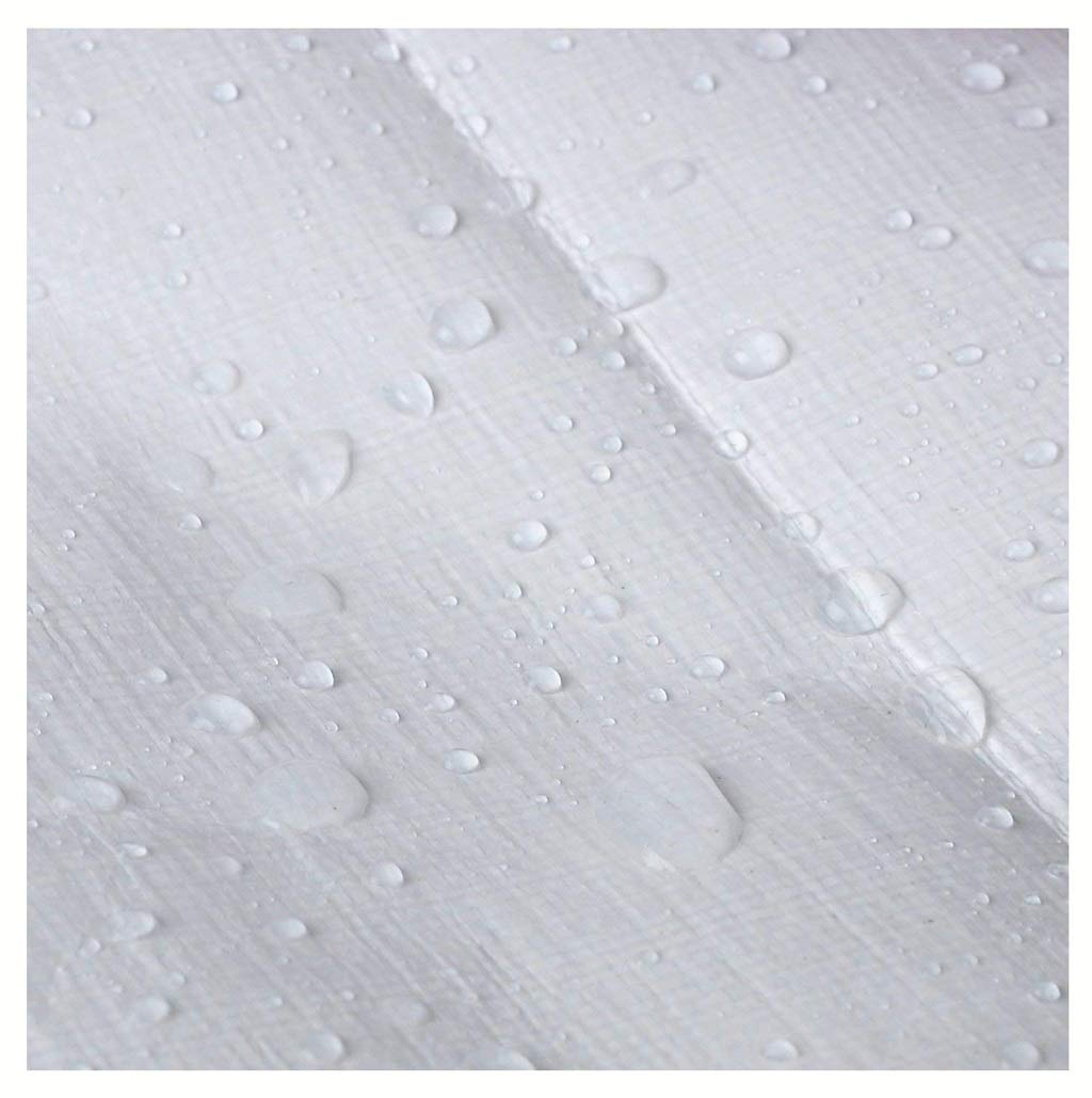 ホワイトヘビーデューティターポリン防水高密度織ポリエチレン屋外ピクニックキャンプ/マルチサイズ用 (サイズ さいず : 5MX6M) 5MX6M  B07JG3WTJH