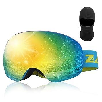 Zacro Gafas de Esquí,Gafas de Snowboard Unisex,OTG 100% UV400 ...