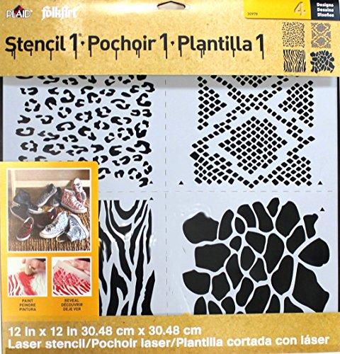 Plaid FolkArt Laser Stencil, 30978 Animal Prints
