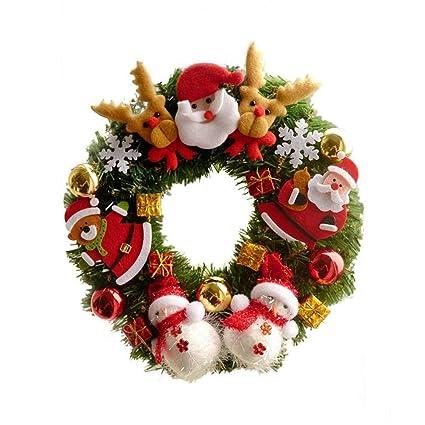 Amazon Com Lyfwl Christmas Wreath Garland Window Decoration