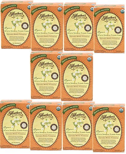 Heather's Tummy Fiber Organic Acacia Senegal Travel Packets CASE (10 Boxes)