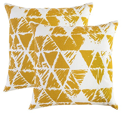 TreeWool 2 Pack Throw Pillow Covers Ikat Triangle Accent Dec