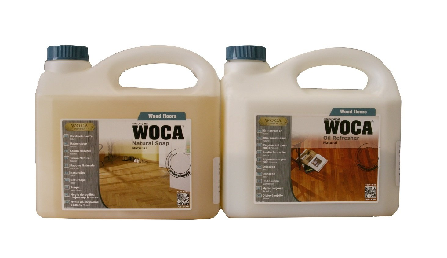 Woca Maintenance Sets 2.5 Liters (Natural 2.5 liters Sets)