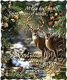 Deer Creek with Scripture Verse Quilt Throw